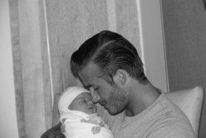 David Beckham dan putrinya, Harper